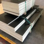 Black Melamine Particle Board used for shelving